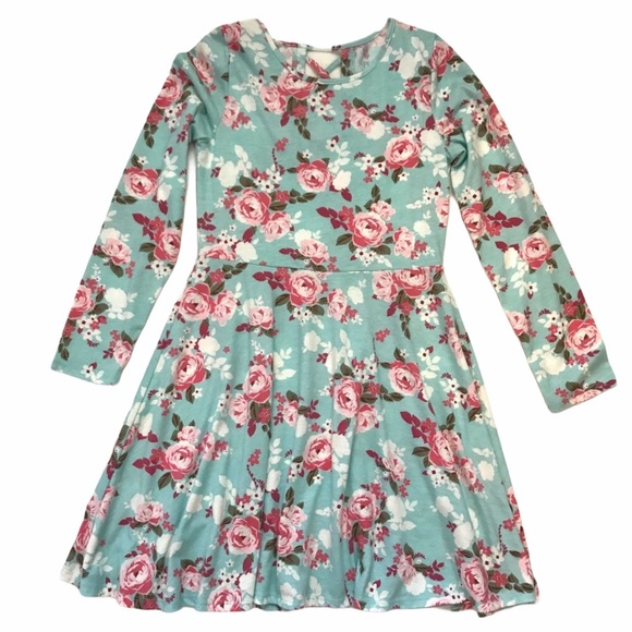 CHILDREN'S PLACE Dress A-Line Floral Long sleeves
